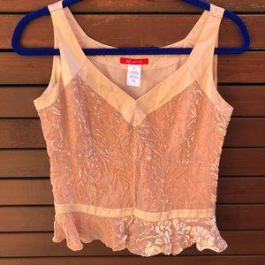 Anne Klein silk brocade sleeveless blouse